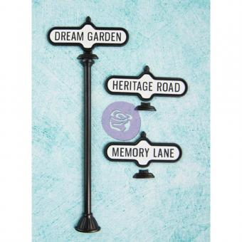 Shabby Chic Treasures Metal Embellishments – Antique Street Sign