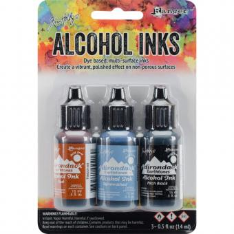 Tim Holtz Alcohol Ink - Miners Lantern-Rust/Stonewash/Pitch Blk