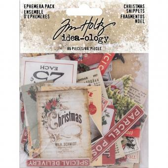 Idea-Ology Ephemera Pack - Snippets Tiny Die-Cuts/Christmas