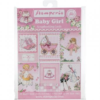 """Stamperia Cards Pad 4.5""""X6.5"""" - Baby Girl"""