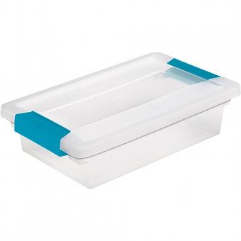 "Sterilite Small Clip Storage Box - 11""X6.625""X2.75"" Clear"
