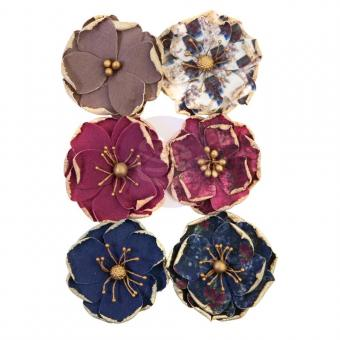 Prima Marketing Mulberry Paper Flowers - Worn Elements/Darcelle