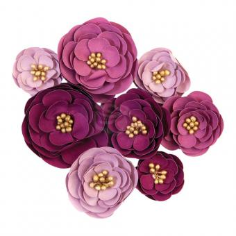 Prima Marketing Mulberry Paper Flowers - Plum Afternoon/Darcelle