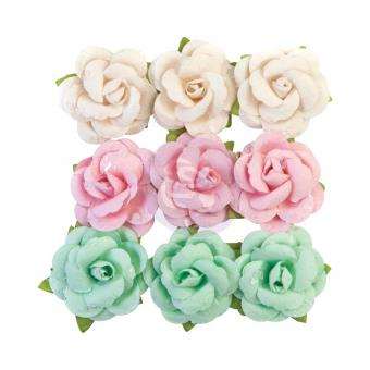 Prima Marketing Pearl Paper Flowers Fluffy Candy/Dulce By Frank Garcia