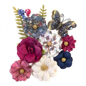 Prima Marketing Mulberry Paper Flowers - Glamorous Moment/Darcelle