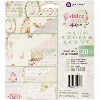 """Prima Marketing Double-Sided Paper Pad 6""""X6"""" Dulce By Frank Garcia"""