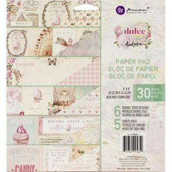 """Prima Marketing Double-Sided Paper Pad 8""""X8"""" Dulce By Frank Garcia"""