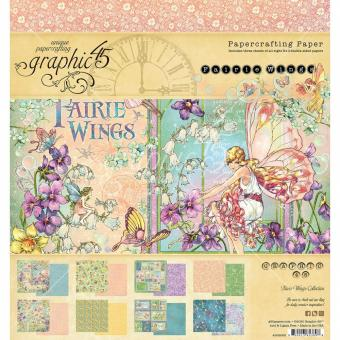 """Graphic 45 Double-Sided Paper Pad 8""""X8"""" - Fairie Wings"""