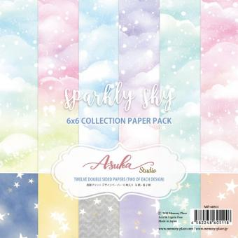 """Asuka Studio Double-Sided Paper Pack 6""""X6"""" - Sparkly Sky"""