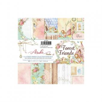 """Asuka Studio Double-Sided Paper Pack 6""""X6"""" - Forest Friends"""