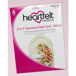 "Heartfelt Creations Foldout Card 5""X7"" 6/Pkg"