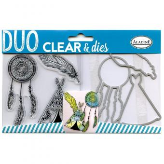 Clear Duo Stamp & Dies - Indian set