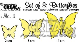 Set of 3 Butterflies no. 3