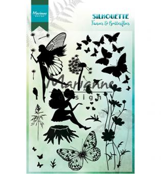 Silhouette Fairies & Butterflies