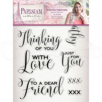 Crafter's Companion -Parisian Stamp - Everyday Greetings