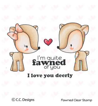 C.C.Designs- Clear Stamp Fawned