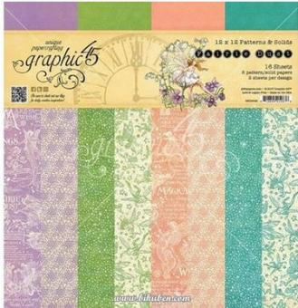 Grapich 45 - Fairie Dust - Patterns and Solid Paper Pad 12 x 12""