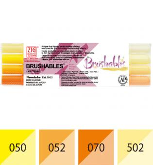 Zig Brushables Yellow 4 colors set