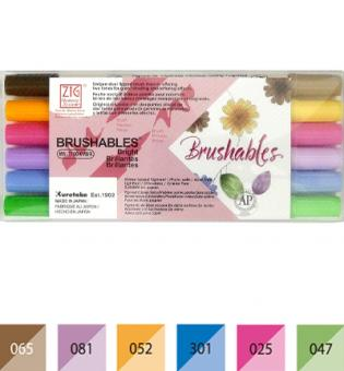 Zig Brushables Bright 6 colors set