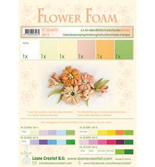 Flower Foam -  Set 3 Salmon Colours
