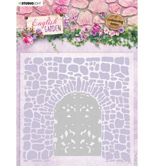 Emb.Folder With Die Cut, English Garden nr.03