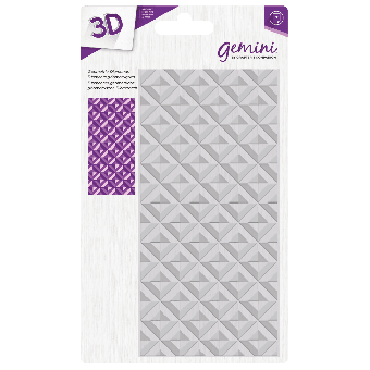 Gemini 3D Embossing Folder - Geometric Diamonds