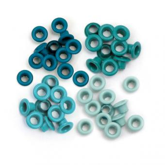 Aluminium Aqua- Eyelets - We R Memory Keepers