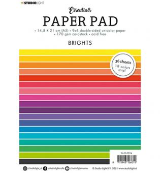 SL Paper Pad Double sided Unicolor Brights Essentials nr.4