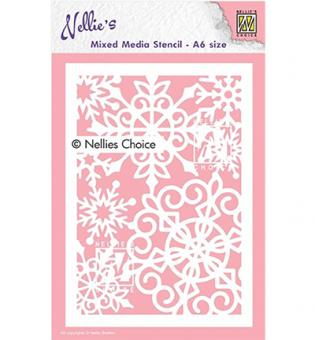 Nellies Choice Plastic Mixed media stencil - Large Snowflake