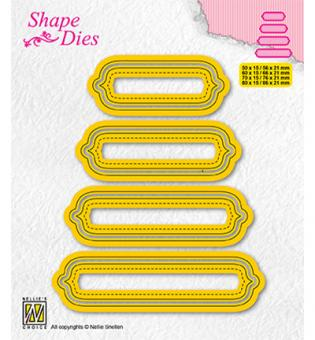 Nellies Choice Multi Frame Die - Set of 4 tags-6