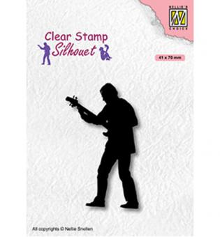 Nellie`s Choice Clearstamp - Teenagers serie, Guitar player