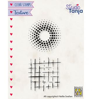 """TEXTURE CLEAR STAMPS """"Dots & squares"""""""