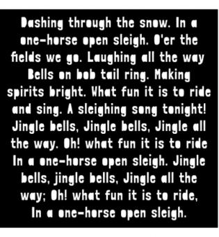 Creative Expressions Mask - Dashing Through The Snow