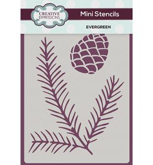 Creative Expressions Mini Stencil - Evergreen