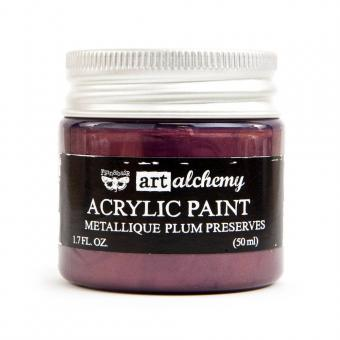 Finnabair Art Alchemy Acrylic Paint -Metallique Plum Preserves