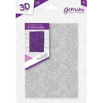 "Gemini 5"" x 7"" 3D Embossing Folder - Chantilly Lace"
