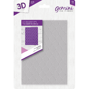 "Gemini 5"" x 7"" 3D Embossing Folder - Studded Leather"