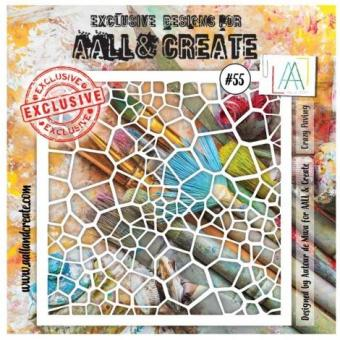 AALL & Create - Stencil  #55 - Crazy Paving