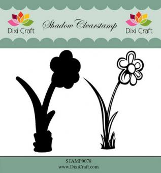 Dixi Shadow Clear Stamp flower 3