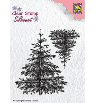 Nellie`s Choice Clearstamp - Christmas fir-trees