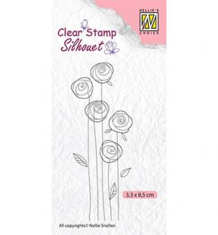 Nellie`s Choice Clearstamp -Flowers-24