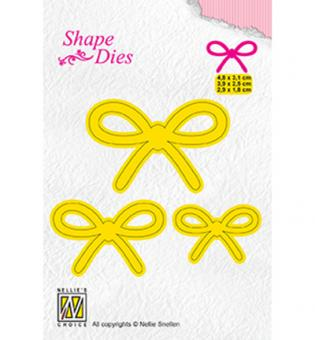 Nellies Choice Shape Die - 3x bow