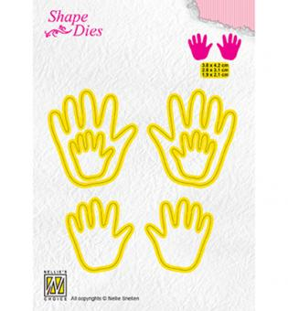 Nellies Choice Shape Die - 3x Baby hands