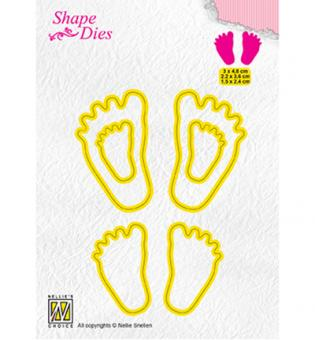 Nellies Choice Shape Die - 3x Baby feet