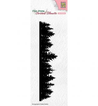 Nellie`s Choice Clearstamp - Pine tree border