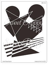 Sweet Poppy Stencil: Absolutely Abstract Back plate