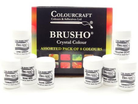 Brusho New Colours Assorted 8 erPack