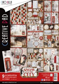 Ciao Bella Scrapbooking Creative Pad Snow and the City A4