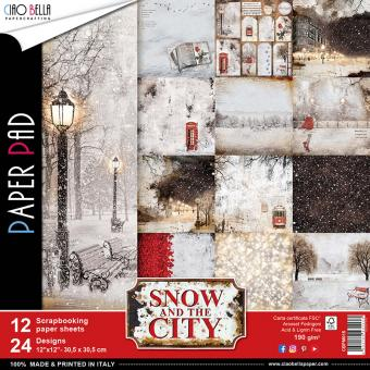 Ciao Bella Scrapbooking Paper Pad Snow and the City 12 x 12