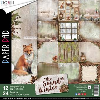VB Ciao Bella Scrapbooking Paper Pad The Sound of Winter 12 x 12